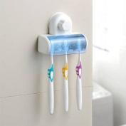 . Magic 13cm 1 Bathroom Decor Stong Vaccum Suction Wall Toothbrush Holder-White
