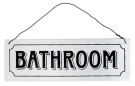"""Bathroom"" Metal Sign"