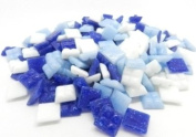 400 Vitreous Glass Mosaic Tiles Blue Arts Crafts 10mm