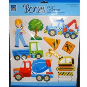 Boys Girls Kids Childrens Childs Baby Nursery Playroom Bedroom Truck Lorry Digger Mixer Construction DecoupageWall Furniture Stickers Decals Stickarounds Decor