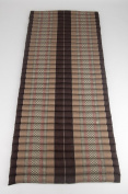 Leewadee Roll Up Thai Mattress, 79x 30inches x 5.1cm , Kapok Fabric, Brown, Premium Double Stitched