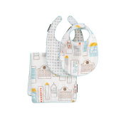Dwellstudio Bibs and Burp Set, Skyline