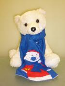 38cm Gorgeous Polar Bear Soft Plush Toy With Removable Christmas Scarf
