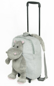Childrens / Toddler Trolley Backpack travel bag - makes comfy pillow - ideal for boys and girls - Hippo
