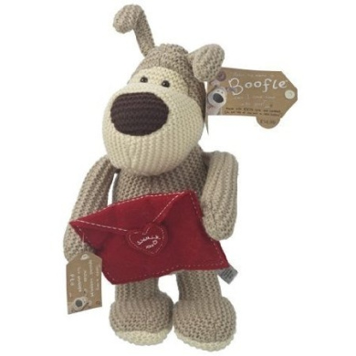 Boofle 20cm Plush Toy - Standing Boofle Holding A Letter