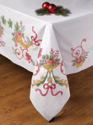 Holiday Cornucopia Stamped Cross Stitch Tablecloth-130cm X180cm