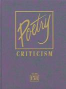 Poetry Criticism, Volume 158