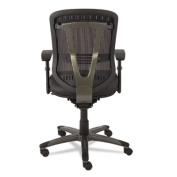 Eon Series Multifunction Mid-Back Leather/Mesh Chair, Black
