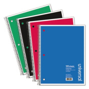 Wirebound Notebook, 8-1/2 x 11, College Ruled, 120 Sheets, Assorted Color Cover