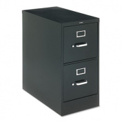 "H320 Series Two-Drawer, Full-Suspension File, Letter, 26-1/2"" Deep, Black"