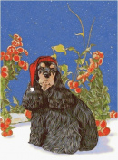 Pipsqueak Productions C969 Holiday Boxed Cards- Cocker Spaniel American Black Tan