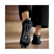 Gaiam Black All-Grip No-Slip Yoga Socks