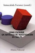 Como escribir un articulo de investigacion en ingles / How to Write a Research Paper in English