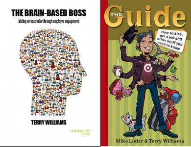 Combo Book Bundle - The Brain-Based Boss AND The Guide: How to kiss, get a job & other stuff you need to know