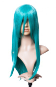 Cosplayland C600 - turquoise Green 60cm Straight Volume Dicht Hair Show Costume Wig