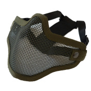 AIRSOFT V1 STRIKE STYLE HALF FACE MESH MASK GREEN OD