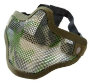 AIRSOFT STRIKE STYLE V1 MESH MASK WOODLAND CAMO