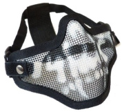 V1 STRIKE STYLE MESH MASK BLACK WITH SKULL