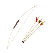 Wooden Bow 47'' & 3 Arrows - Archery Set For Children