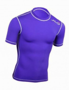 SUB Sports DUAL Mens Compression Top - Short Sleeve All Season Base Layer
