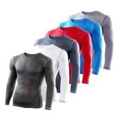 Mens & Boys PowerLayer Compression Base Layer / Baselayer Top Long Sleeve Under Shirt - Crew Neck