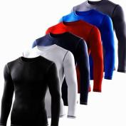 Mens Kids PowerLayer Compression Base Layer / Baselayer Top Long Sleeve Under Shirt - Crew Neck