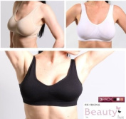 3pk Seamless Leisure Beauty Bra Black, White & Nude - Size S