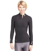 Skins A200 Women's Thermal Long Sleeve Mock Neck with Zip Compression Top