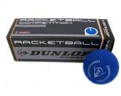 3x Dunlop Racketball Balls