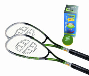 Unsquashable 2 Player Adult Squash Set Consisting Of 2 Rackets And 1 Box Of 3 Balls