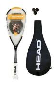 Head Nano Ti.120 Pro Squash Racket + 3 Dunlop Pro Squash Balls RRP £160