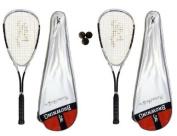 2 x Browning Platinum Nano 150 Squash Rackets + 3 Squash Balls RRP £140