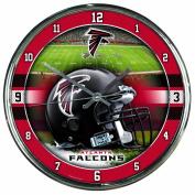 NFL Chrome Clock Atlanta Falcons