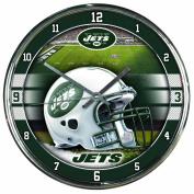NFL Chrome Clock New York Jets