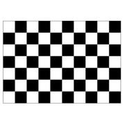 Flag, 1.5m x 0.9m, Chequered Black & White
