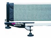 Butterfly Unisex Matchplay Net & Post Set - Black/White, 27 cm