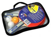 Hudora New Contest Table Tennis Set, 2 Bats, 3 Balls