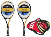 2 x Wilson Sting BLX Tennis Rackets + Wilson BLX Tour Super Racket Bag RRP £460