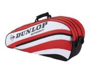 DUNLOP Club 6 Racket Tennis Bag, Blue/White/Black