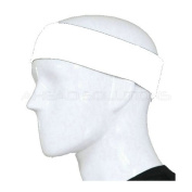 Sport Stretch Headband Sweatband Head Band Sweat Band. Plain Unbranded Black or White Hair Band. Non Towel Fabric. High Quality. Use for Sports Soccer, Running, Tennis Etc. Made from Cotton & Terylene so may be used for or Cosmetic Make-Up ..