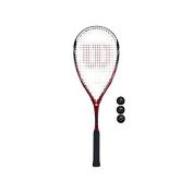 Squash racket + 3 x squash balls