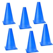 6 PCS Multi-function Safety Agility Cone for Football Soccer Sports Field Practise Drill Marking - Blue