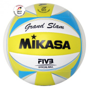 Mikasa Grand Slam 1613 Beach Volleyball Yellow / White / Blue