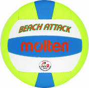 Molten Beach Volleyball - 5, Orange/Yellow/Black