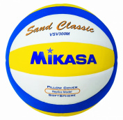 Mikasa Sand Classic Vsv300m 1618 Beach Volleyball Blue / Yellow / White