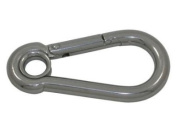 Stainless Steel Boat & Sailing Carbine Hook 4mm x 40mm