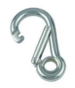 4 x Boat & Sailing Carbine Hook 8mm x 80mm With Eye
