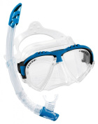 Cressi Matrix Mask & Gamma Snorkel Italian Made Snorkelling Set