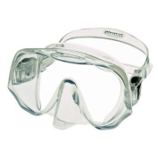 Atomic Aquatics Frameless Single Lens Scuba Diving Mask in Clear Silicone