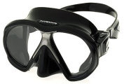 Atomic Sub Frame Twin Lens Scuba Diving Mask. Black Silicone